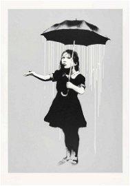 Banksy (British b.1974), 'NOLA (White Rain)', 2008