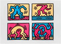 Keith Haring American 19581990 Pop Shop Quad II