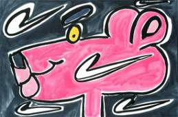 Katherine Bernhardt (American b.1975), 'Nike Panther',