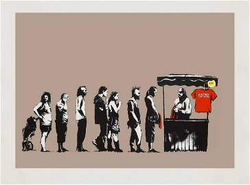 Banksy (British 1974-), 'Festival (AP Brown
