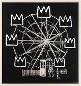 Banksy (British 1974-), 'Banksquiat (Grey)', 2019