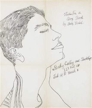 Andy Warhol (American 1928-1987), 'Studies For A Boy