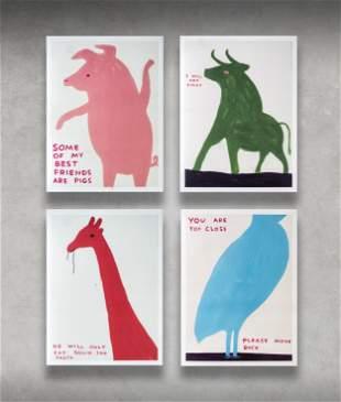 David Shrigley (British 1968-), 'Animal Series', 2020