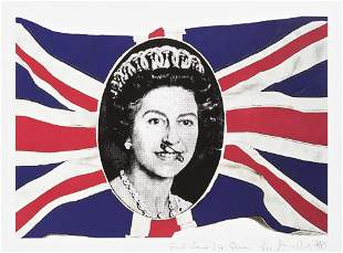 Jamie Reid (British 1947-), 'God Save The Queen', 2005