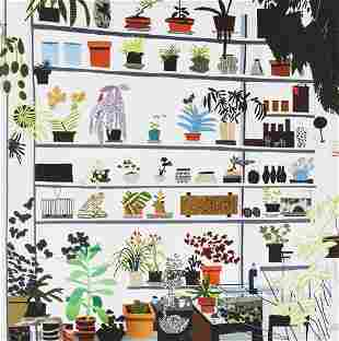 Jonas Wood (American 1977-), 'Large Shelf Still Life
