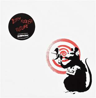 Banksy (British 1974-), 'Radar Rat - Dirty Funker Vinyl