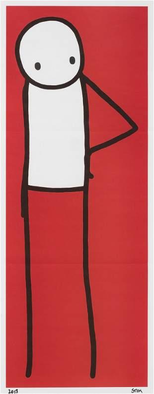 Stik (British 1979-), 'Hip (Red)', 2013,