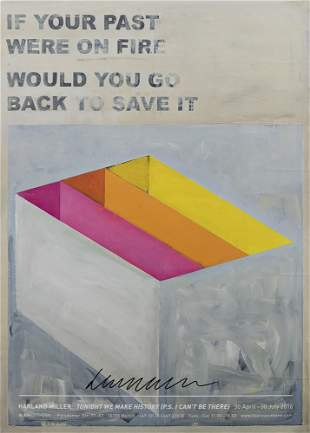 Harland Miller (British 1964-), 'If Your Past Were On