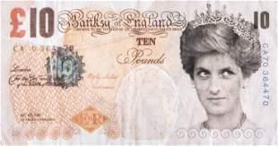 Banksy (British 1974-), 'Di-Faced Tenner', 2004