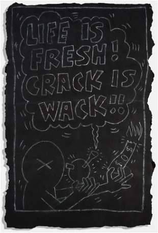 Keith Haring (American 1958-1990), 'Life Is Fresh!',
