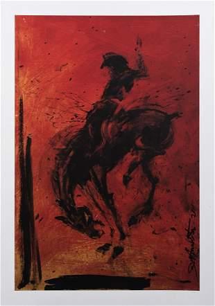 Richard Hambleton (Canadian 1952-2017), 'Horse & Rider