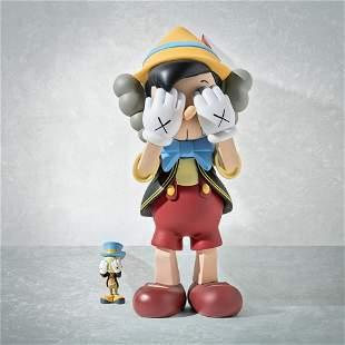Kaws (American 1974-), 'Pinocchio & Jiminy Cricket',