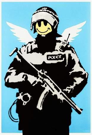 Banksy (British 1974-), 'Flying Copper', 2003