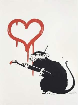 Banksy (British 1974-), 'Love Rat', 2004 (Signed)