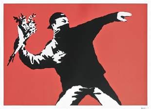 Banksy (British 1974-), 'Love Is In The Air (Flower
