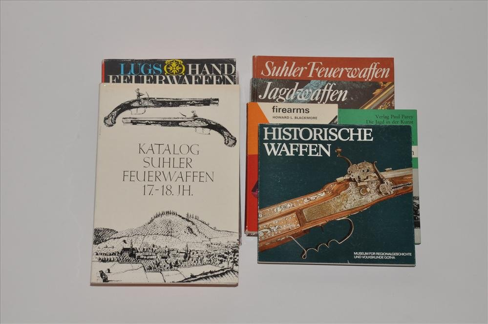 Lot of eight books firearms