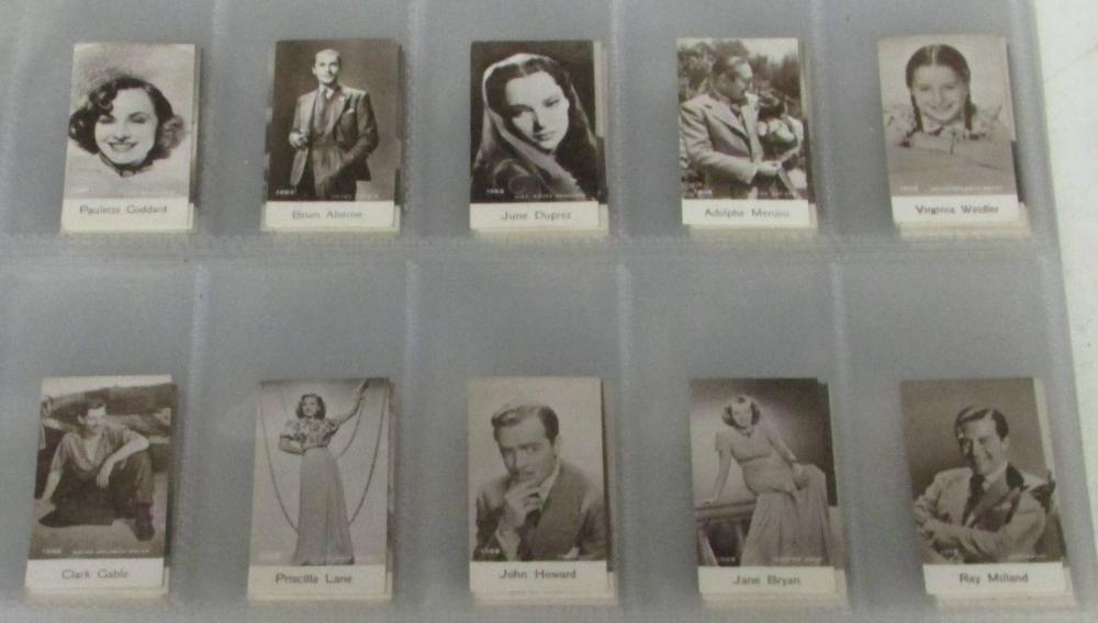 Rare 100 Movie Star Card Set Circa 1930s