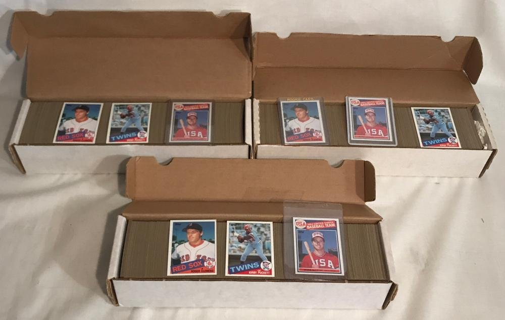 (3) 1985 Topps Baseball Card Complete Sets