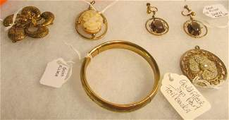5 Pieces of Gold Filled Victorian Jewelry