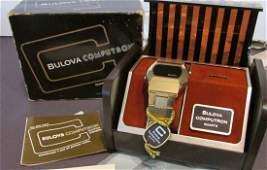 Mens Bulova Computron LED Watch Driver Box