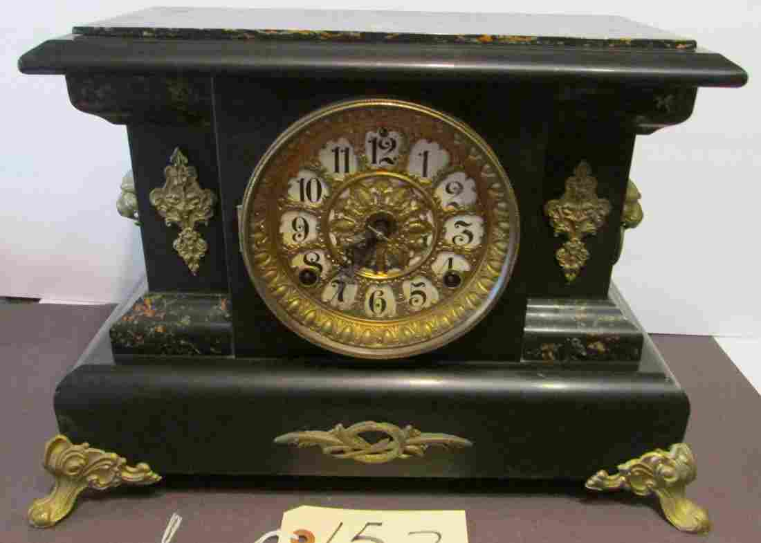Seth Thomas Faux Marble Mantle Clock 1880