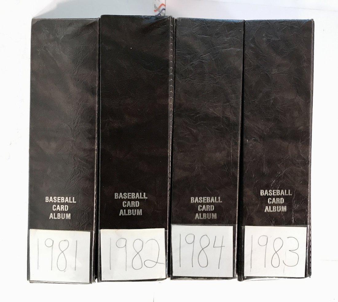 1981, 1982, 1983, 1984 Topps Baseball Card Sets