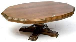 Contemporary oak coffee table