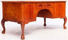 French-style burlwood inlaid desk