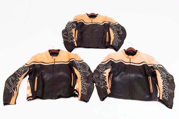 Lot of 3 pcs. Harley Davidson leather jackets
