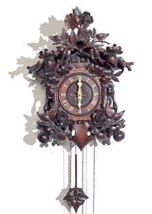 Wood Plate Movement & Quail Cuckoo Clock