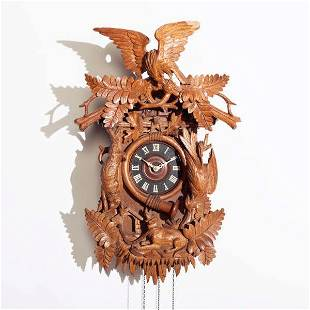 Brass Plate Movement & Quail Cuckoo Clock