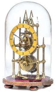 Miniature Single Fusee Skeleton Clock