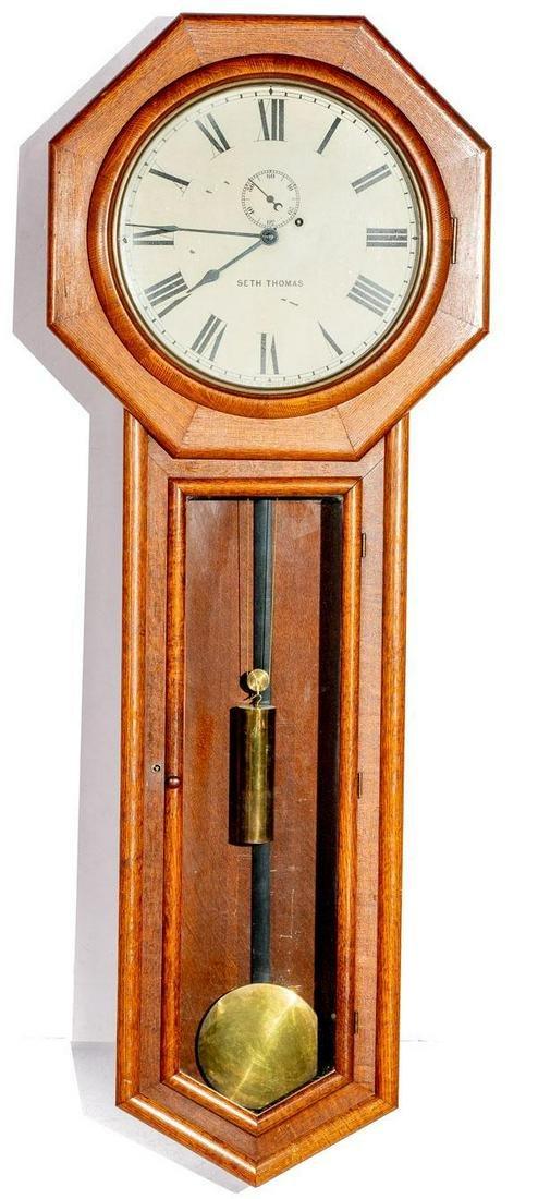 Seth Thomas #18 Oak Clock