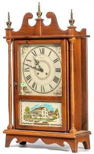 New England Clock Company Pillar Scroll Clock