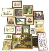 Lot of Miscellaneous Art Some Framed