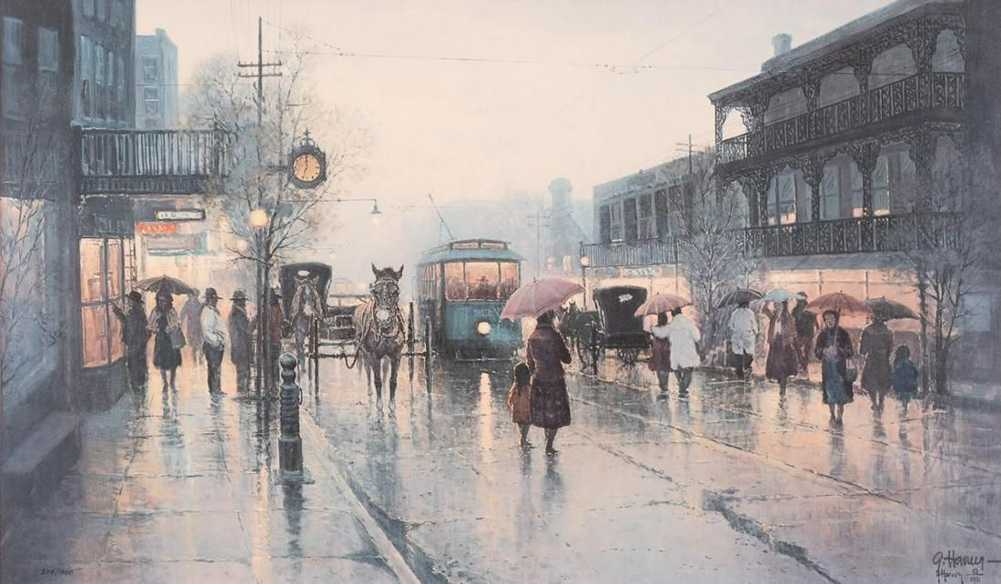 "G. Harvey (1933-2017), ""On the Streets of New Orleans"""