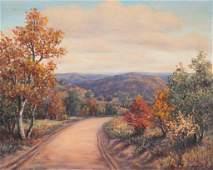 Louise Jez (1897-1981),,Autumn Dirt Road