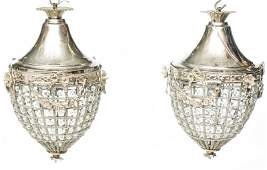 Pair of French EmpireStyle Chandeliers