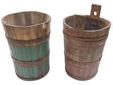 Pair of Rustic Vineyard Grape Barrels