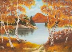 Nancy Srygley 20th c 1976 Autumn Lake