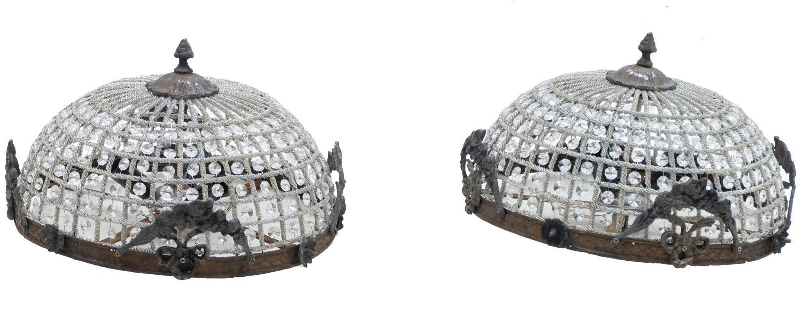 Pair of French Empire Chandeliers