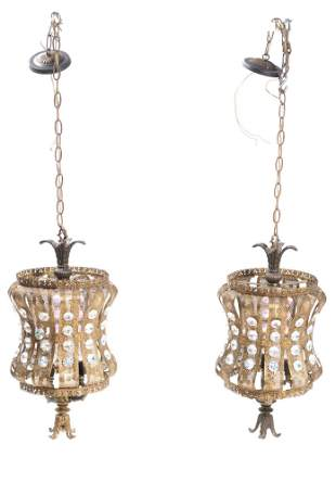 Pair of Vintage Chandeliers