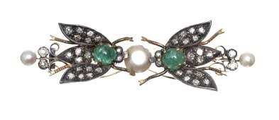 Antique 14k Gold Diamond En Tremblant Bee Brooch