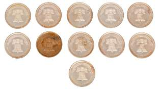 Lot of 11, 1oz. .999 Fine Silver Coins