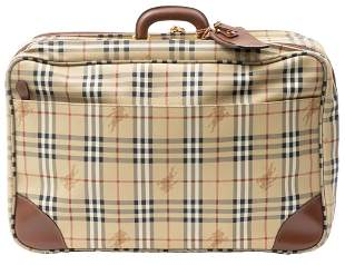 Burberry Vintage Luggage Travel Bag