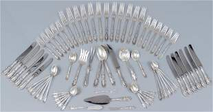 1932 Towle 69 Piece Sterling Silver Flatware Set