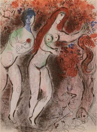 "Marc Chagall (1887-1985), ""Adam & Eve The Forbidden"