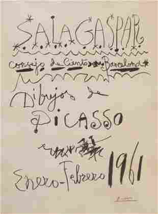 "Pablo Picasso (1881-1973), ""Sala Gaspar"", 1961, 48/50"