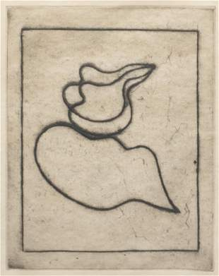 """Jean Arp (1886/87-1966), """"Moving Form"""", Etching"""