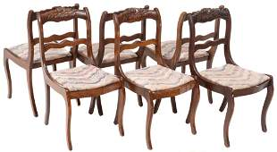 Set of 6 French Mid-Century Dining Chairs